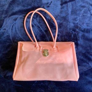 Matt & Nat pink PVC shoulder purse